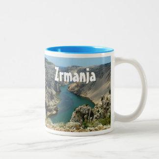 Zrmanja Canyon, Dalmatia, Croatia Two-Tone Coffee Mug