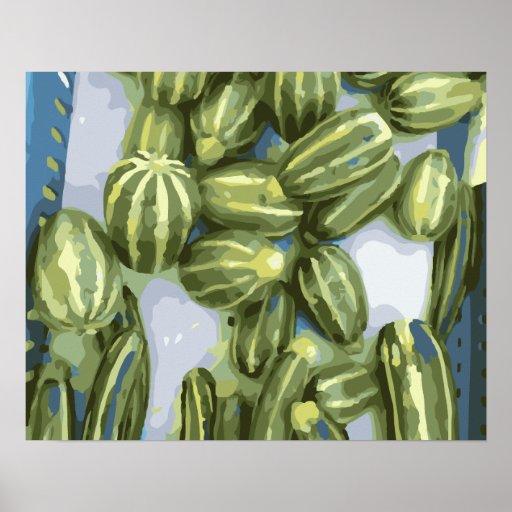 Zucchini and Winter Squash Harvest Print