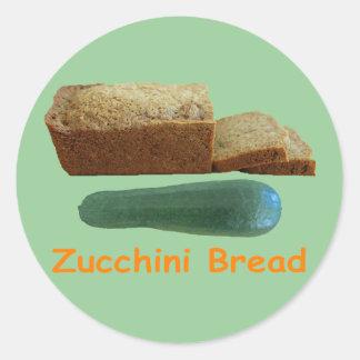 Zucchini Bread Classic Round Sticker