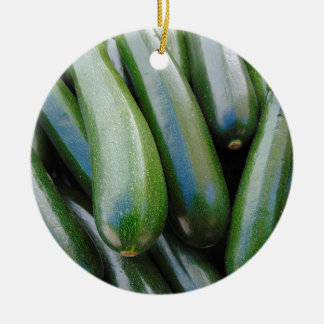 Zucchini Ceramic Ornament