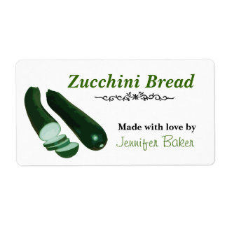 Zucchini Food Labels