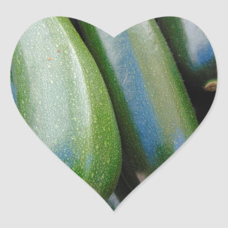 Zucchini Heart Sticker