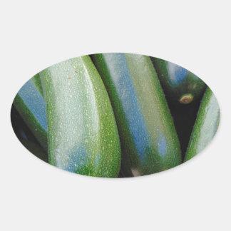Zucchini Oval Sticker