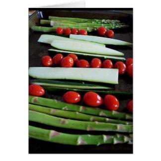Zucchini, Tomato, Asparagus Greeting Card