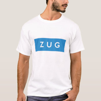 zug province Switzerland swiss flag text name T-Shirt