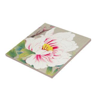 Zuigetsu Ikeda Pink Camellia japanese flower art Tile