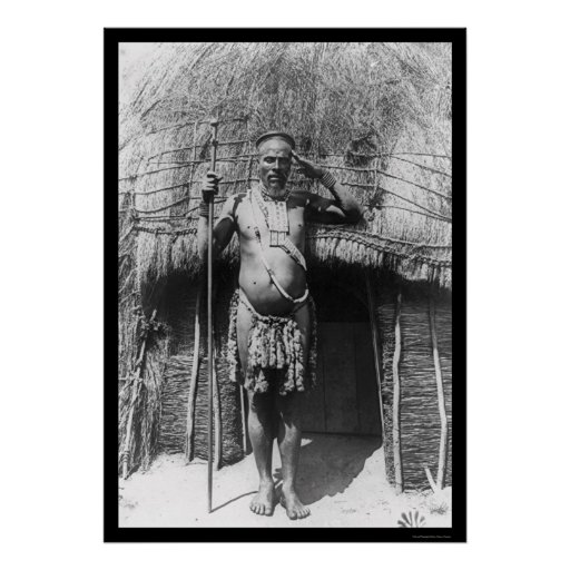 Zulu Chief South Africa 1897 Poster