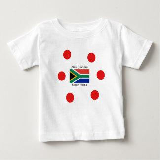 Zulu (isiZulu) Language And South Africa Flag Baby T-Shirt