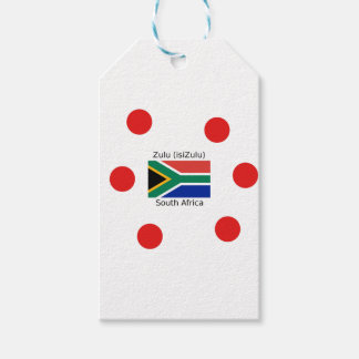 Zulu (isiZulu) Language And South Africa Flag Gift Tags