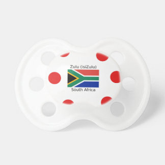Zulu (isiZulu) Language And South Africa Flag Pacifier
