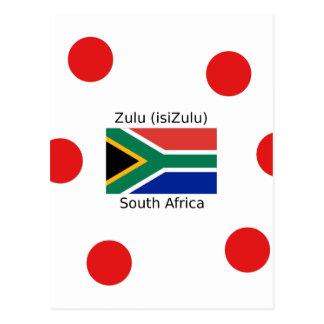 Zulu (isiZulu) Language And South Africa Flag Postcard