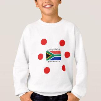 Zulu (isiZulu) Language And South Africa Flag Sweatshirt