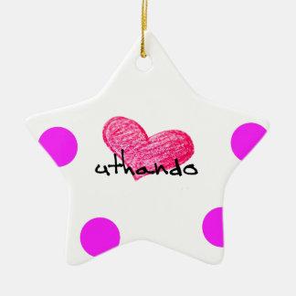 Zulu Language of Love Design Ceramic Ornament
