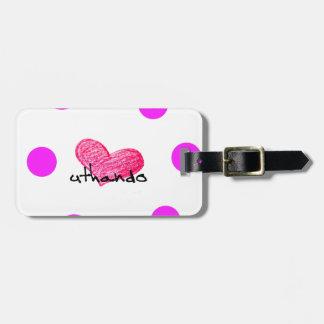 Zulu Language of Love Design Luggage Tag
