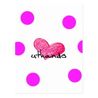 Zulu Language of Love Design Postcard