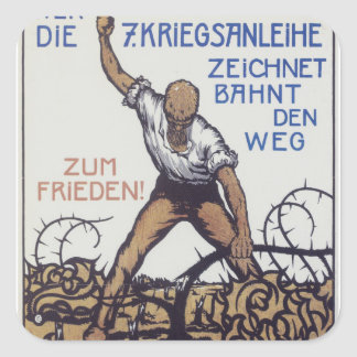 ZUM FRIEDEN Propaganda Poster Square Sticker