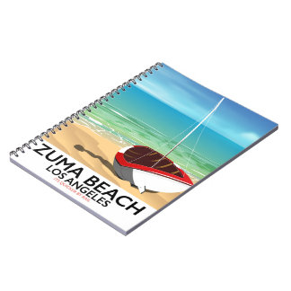 Zuma Beach LA Rail beach poster Notebook
