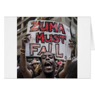 Zuma Must Fall Card