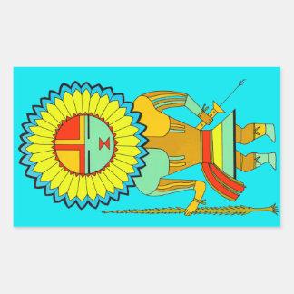 Zuni Man Sunface Sticker