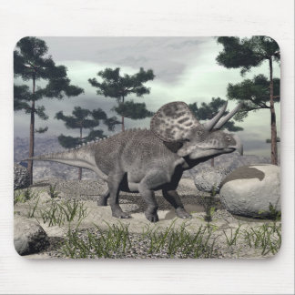 Zuniceratops dinosaur - 3D render Mouse Pad
