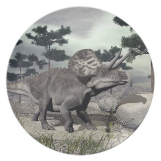 Zuniceratops dinosaur - 3D render Party Plates