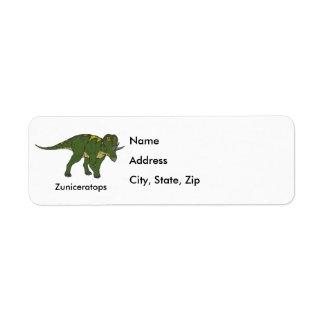 Zuniceratops Return Address Label