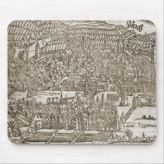 Zurich, 16th century map mouse pad