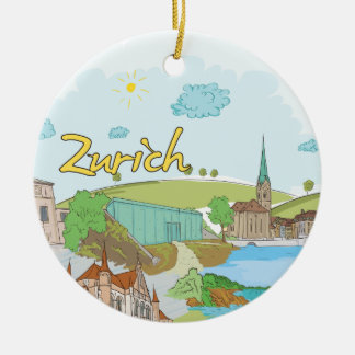 Zurich Ceramic Ornament