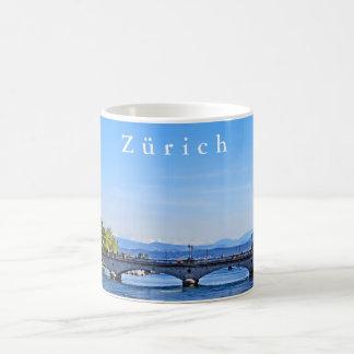 Zurich. Limmat. City Hall and Bridge. Coffee Mug