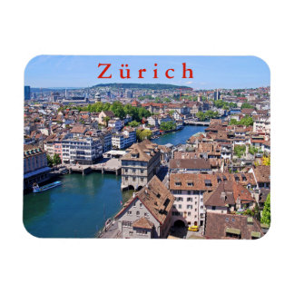Zurich. Panorama from the Grossmunster Tower. Magnet