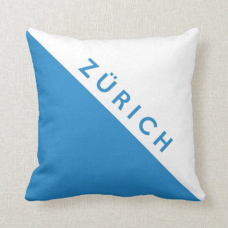Zurich province Switzerland swiss flag region Throw Pillow