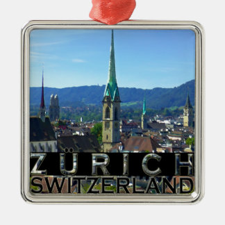Zurich Silver-Colored Square Ornament