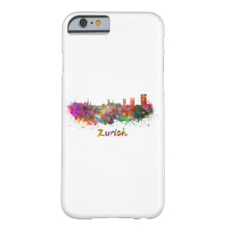 Zurich skyline in watercolor barely there iPhone 6 case