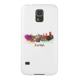 Zurich skyline in watercolor galaxy s5 case