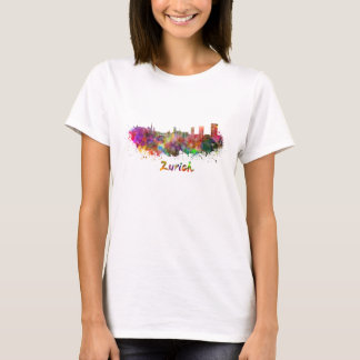 Zurich skyline in watercolor T-Shirt