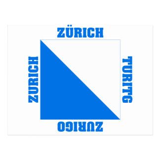 Zurich Switzerland Canton Flag Postcard