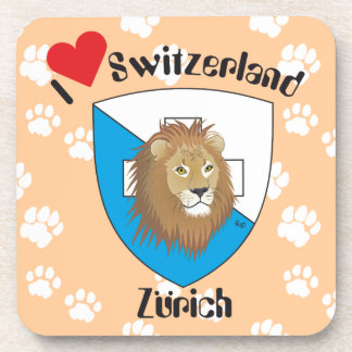 Zurich Switzerland cork reductor Beverage Coaster