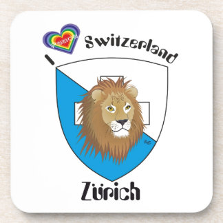 Zurich Switzerland cork reductor Drink Coaster