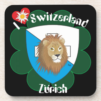 Zurich Switzerland cork reductor Drink Coasters