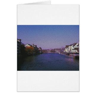 Zurich Switzerland Digital art. Card