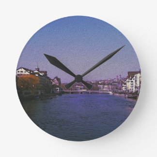 Zurich Switzerland Digital art. Clocks