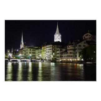 Zurich, Switzerland Limmat River - Print