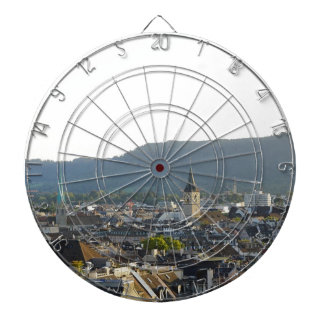 Zurich Switzerland Skyline Dartboard