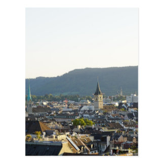 Zurich Switzerland Skyline Postcard