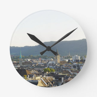 Zurich Switzerland Skyline Round Clock