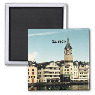 Zurich, Switzerland Square Magnet