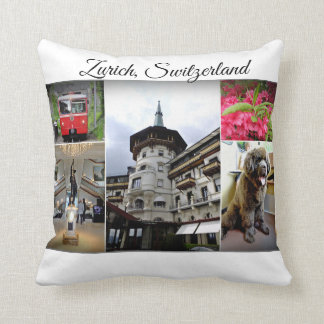 Zurich Travel Collection Throw Pillow