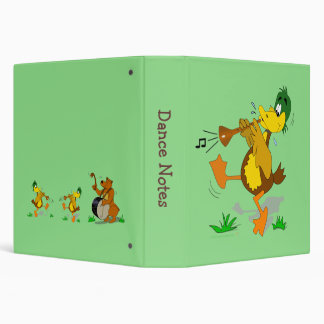 Zurna Musical Cartoon Duck Custom Balkan Music Vinyl Binders