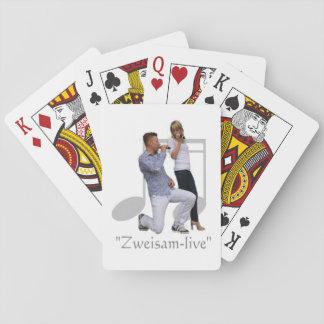 """""""Zweisam live"""" Spielkarten Poker Deck"""