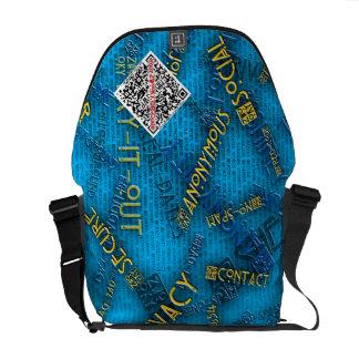 ZWOOKY QR Messenger bag